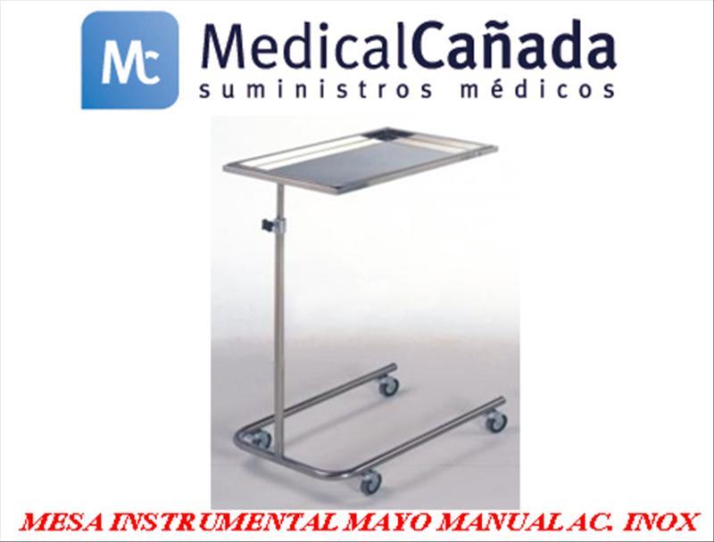 Mesa instrumental mayo manual acero inoxidable  - m105