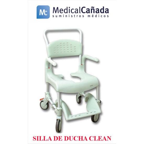 Silla de ducha wc c ruedas y frenos clean 55 cm medical ca ada - Silla de ducha y wc clean ...