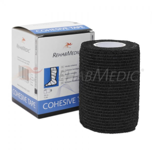 Venda Cohesiva Tape de 7,5 cm x 4,6 m color negro