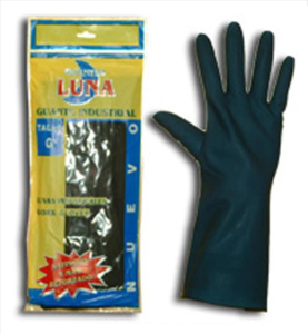 Guantes latex satinado industrial luna t/g par