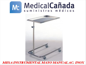 Mesa instrumental mayo manual acero inoxidable  - m105