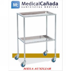 Mesa auxiliar acero cromado band inf-sup acero inoxidable 60x40x80 cm