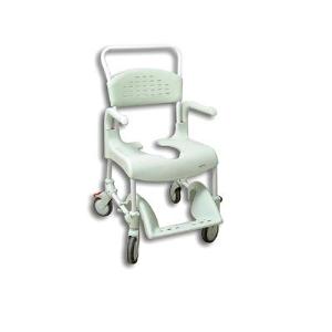 Silla de ducha wc con ruedas y frenos clean 55 cm medical ca ada - Silla de ducha y wc clean ...