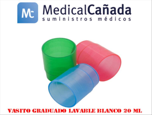 Vasito graduado lavable blanco 20 ml