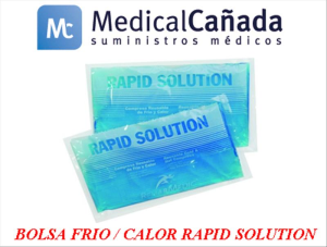 Bolsa frio/calor rapid solution 15 x 26 cm azul c/40