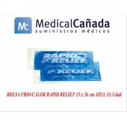 Bolsa frio/calor rapid relief 15 x 26 cm azul (1) udad