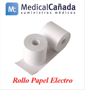 Rollo papel electro 130 mm x 25 m (int.16 mm)  udad