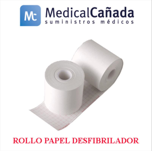Rollo papel desfibrilador 50 mm x 30 m (int.mm) udad heartstart philips xl