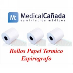 Rollo papel espirometro no termico 57 mm x 25 m (int.12 mm)