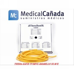 Thera-band tubing amarillo suave ø 0,4 cm