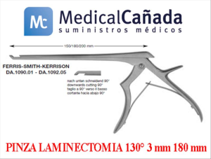 Pinza laminectomia 130° 3 mm 180 mm