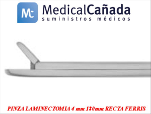 Pinza laminectomia 4 mm 180mm recta ferris da.1130.04