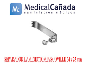Sparador laminectomia scoville 64 x 25 mm