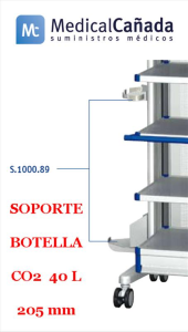 Soporte botella co2 40 l 205 mm